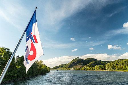 KD Fahne im Fahrtwind