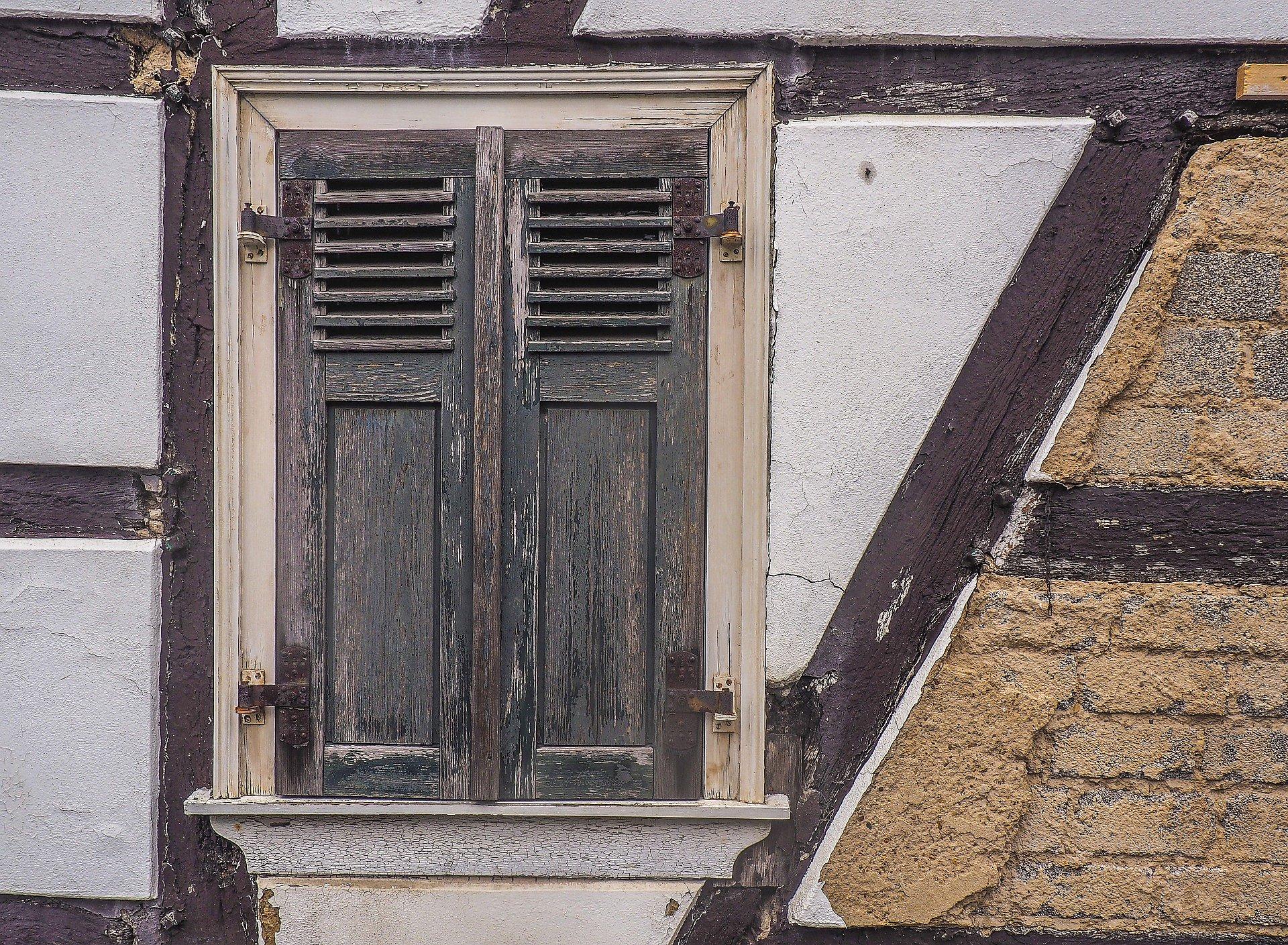Altes Fenster Fachwerkhaus