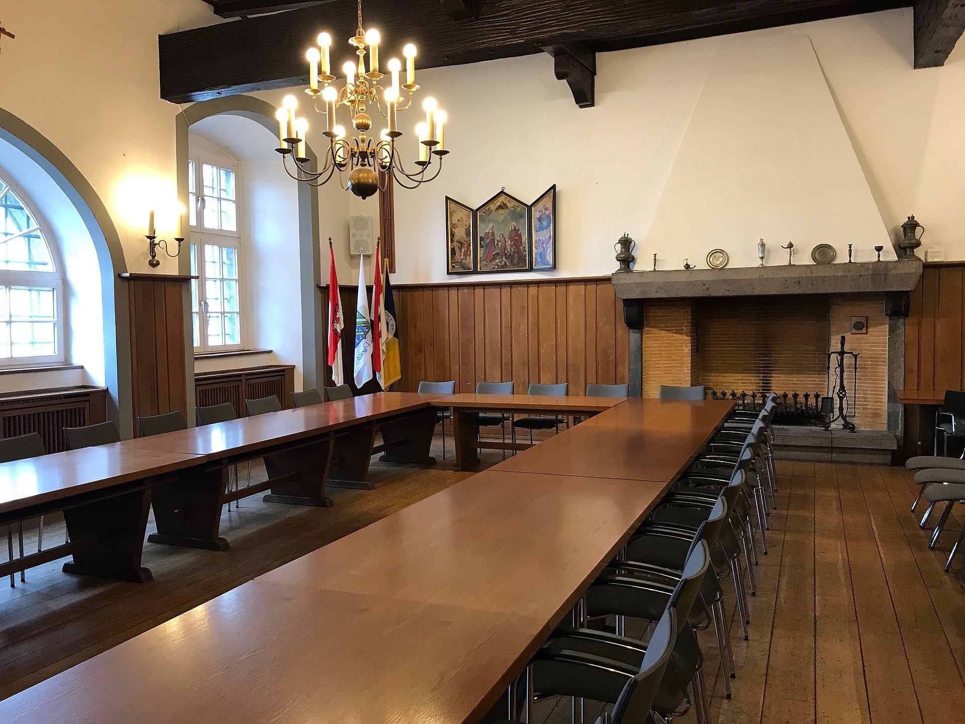 Sitzungssaal, historisches Rathaus Linz