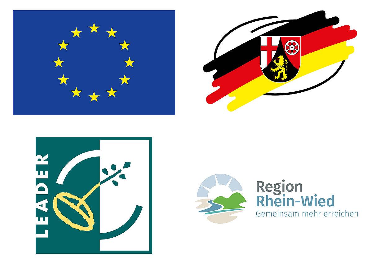 Logos Fördermittelgeber LEADER