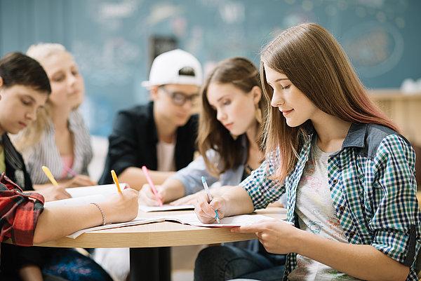 Schüler im Unterricht