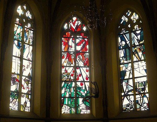Buntglasfenster Edith Oellers